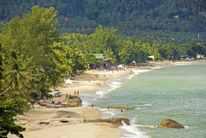 Lamai Beach op Koh Samui Thailand