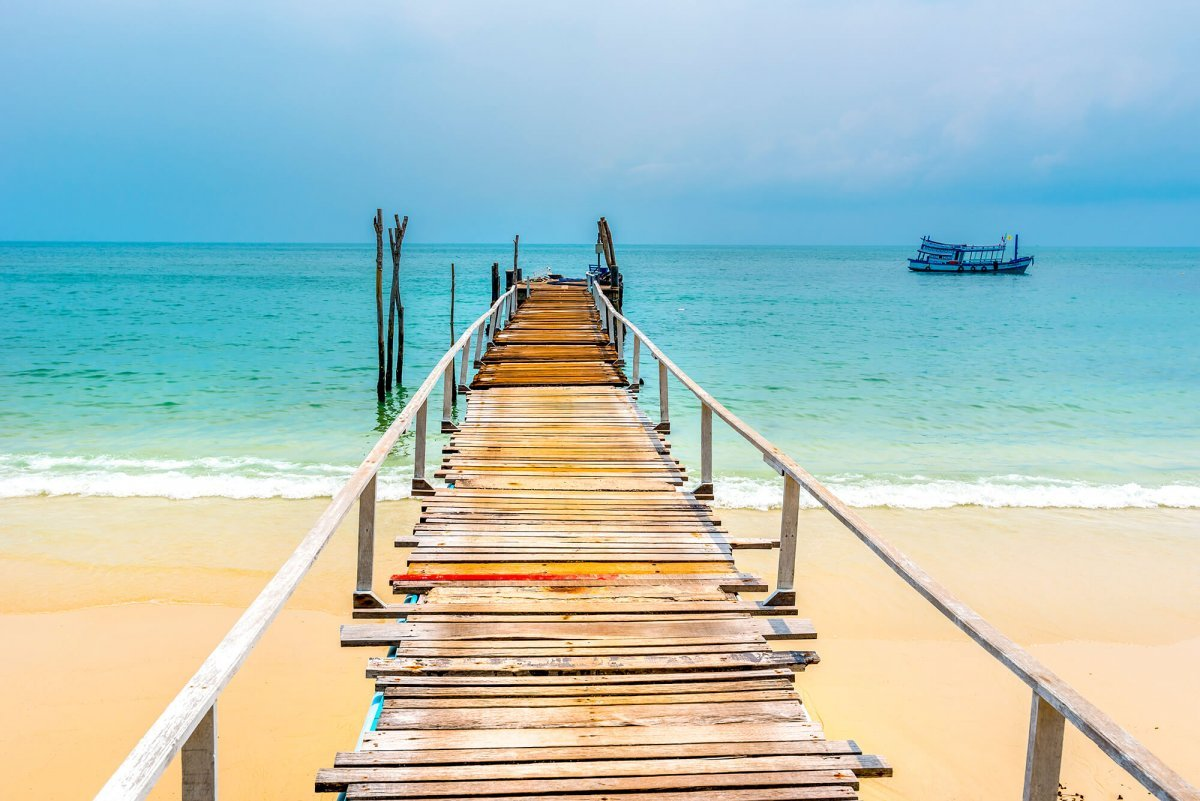 Pier op Koh Samet, Thailand