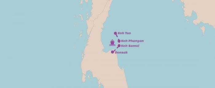 Reisroute Eilandhoppen oostkust Thailand