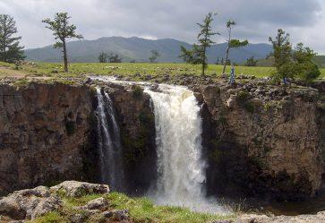 Orkhon Waterval Riviervallei en yakhoeders