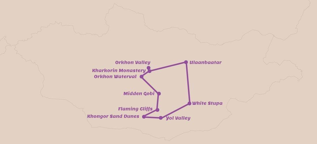 Rondreis Centraal- en Zuid-Mongolië 11 dagen