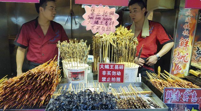 Wangfujing avondmarkt