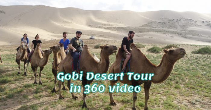 Gobi Woestijn in 360 graden video