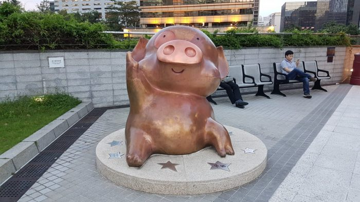 Cartoon karakter McDull bij Avenue of the Stars