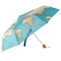 Paraplu met vintage wereldkaart
