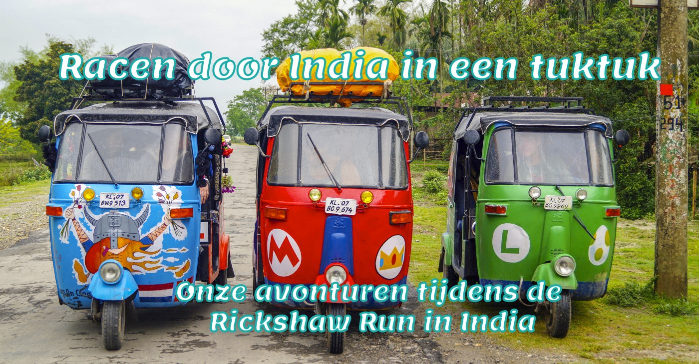 Racen door India in een tuktuk