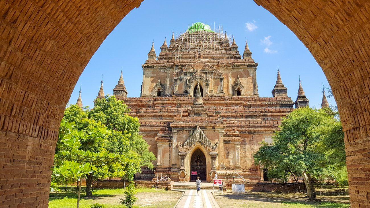 Su La Ma Ni Pahto is een van de grotere tempels van Bagan en liep schade op tijdens de aardbeving