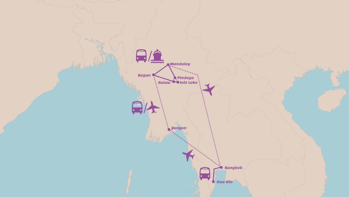 Rondreis Thailand en Myanmar in 3 weken Combinatiereis vol hoogtepunten