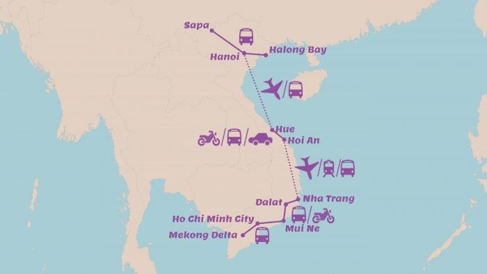 Rondreis Vietnam in 3 weken Mooiste hoogtepunten van Vietnam