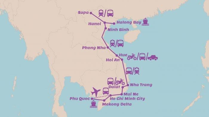 Rondreis Vietnam in 4 weken Alle highlights van Vietnam en volop natuur van Noord naar Zuid