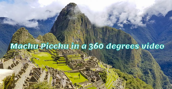 Machu Picchu Peru in een 360 graden video