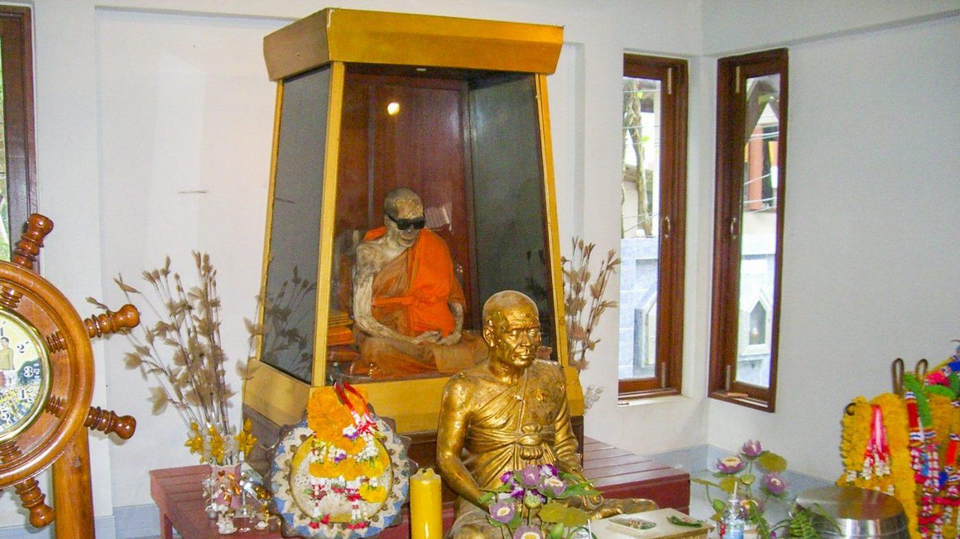 Mummie monnik bij Wat Khunaram