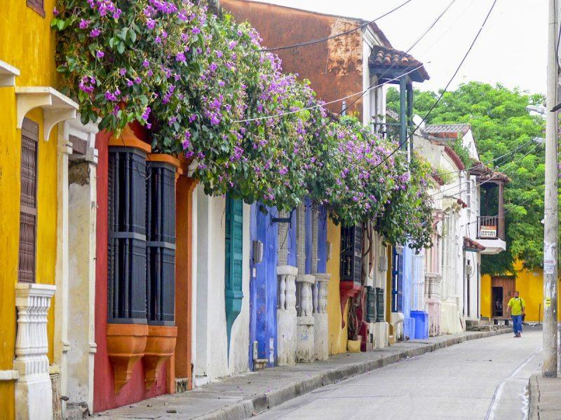 De kleurrijke straten van Cartagena de Indias in Colombia