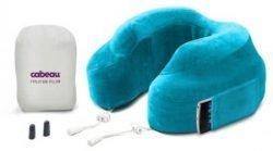 Cabeau Evolution Pillow Ocean Blue inclusief oordopjes