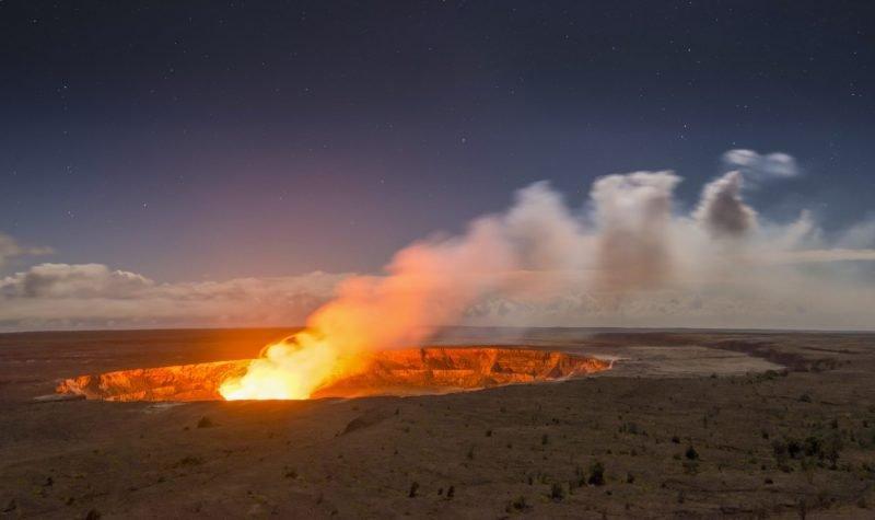De Kilauea Vulkaan op Big Island, Hawaii