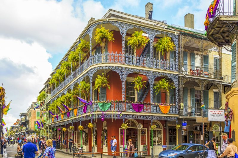 Historisch gebouw in de French Quarter in New Orleans - Verenigde Staten