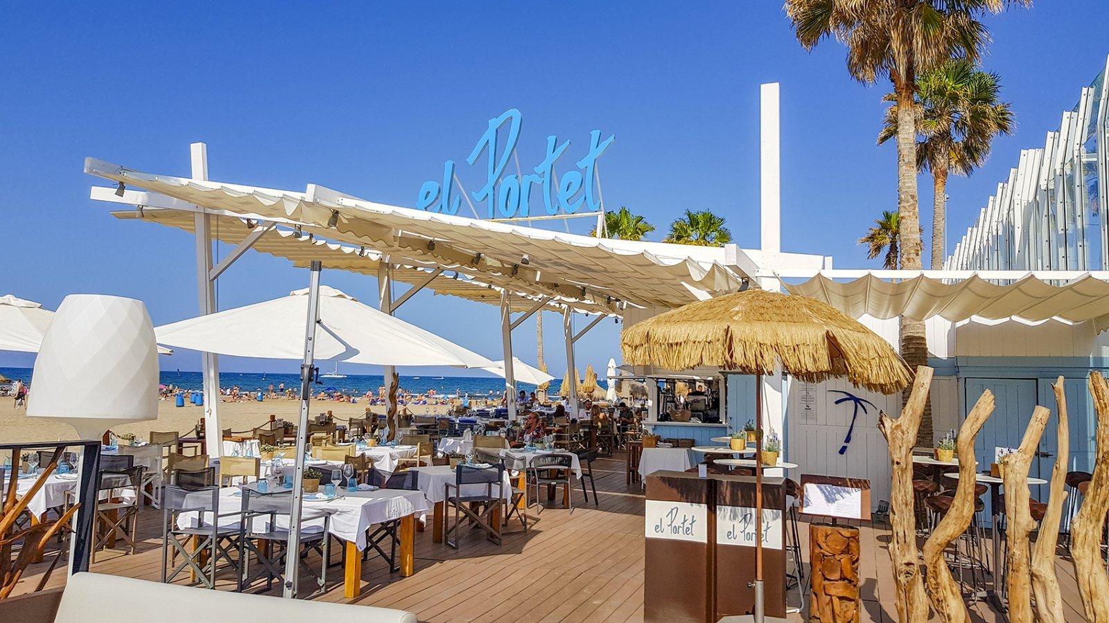 El Portet Restaurant is onderdeel van Marina Beach Club Valencia en is te vinden op het strand
