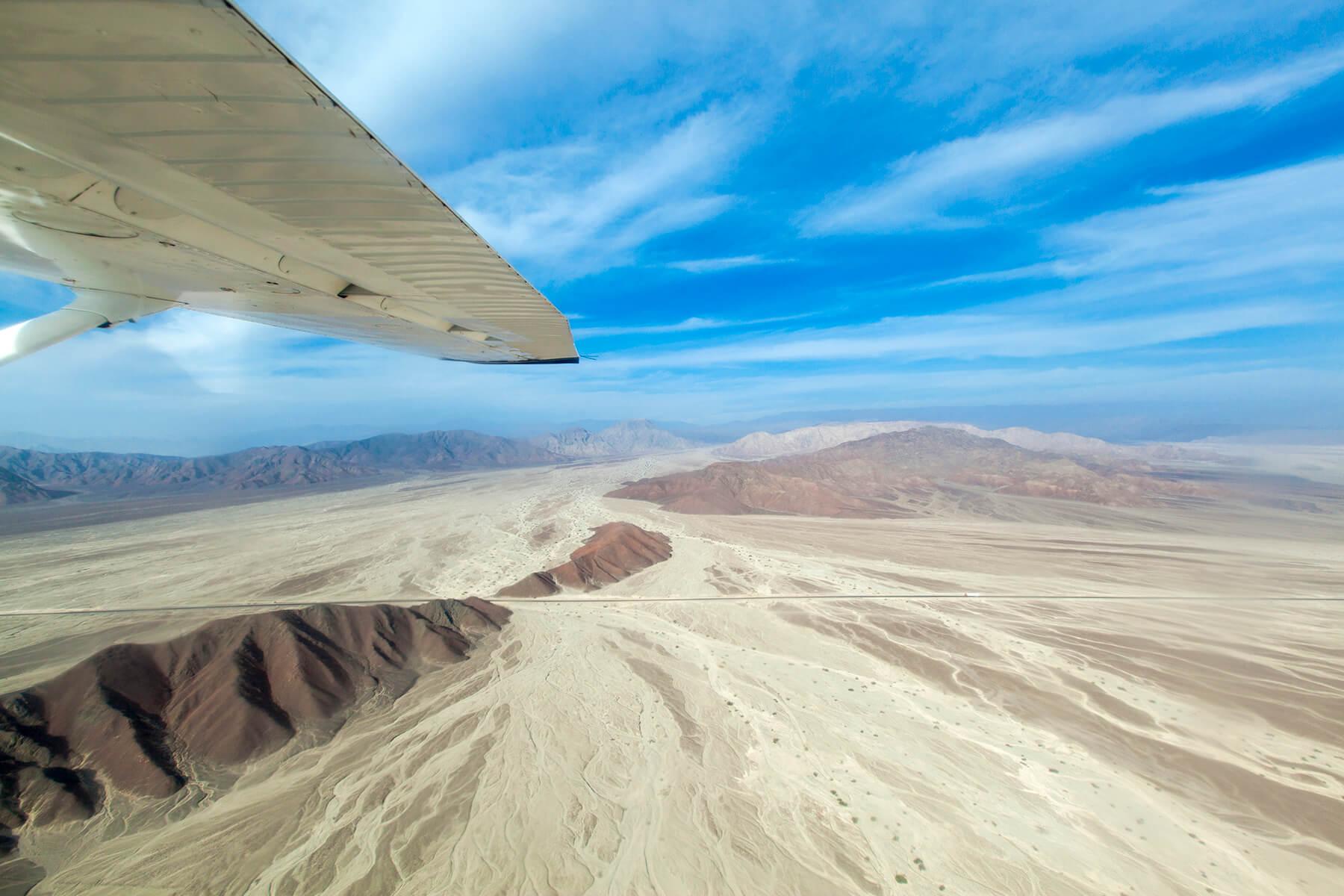 Een vlucht over de Nazca lijnen met waanzinnig uitzicht over het landschap