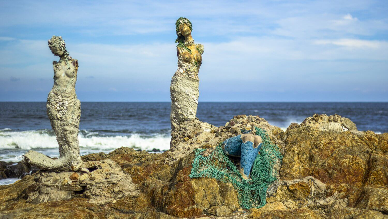 Punta del Este in Uruguay - The Mermaids beelden van Lili Perkins