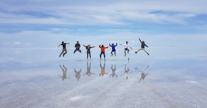 Salar de Uyuni Bolivia zoutvlakte