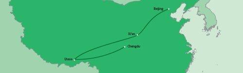 16-daagse individuele rondreis China en Tibet route