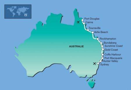 22-daagse privé rondreis met huurauto Oostkust Australië route