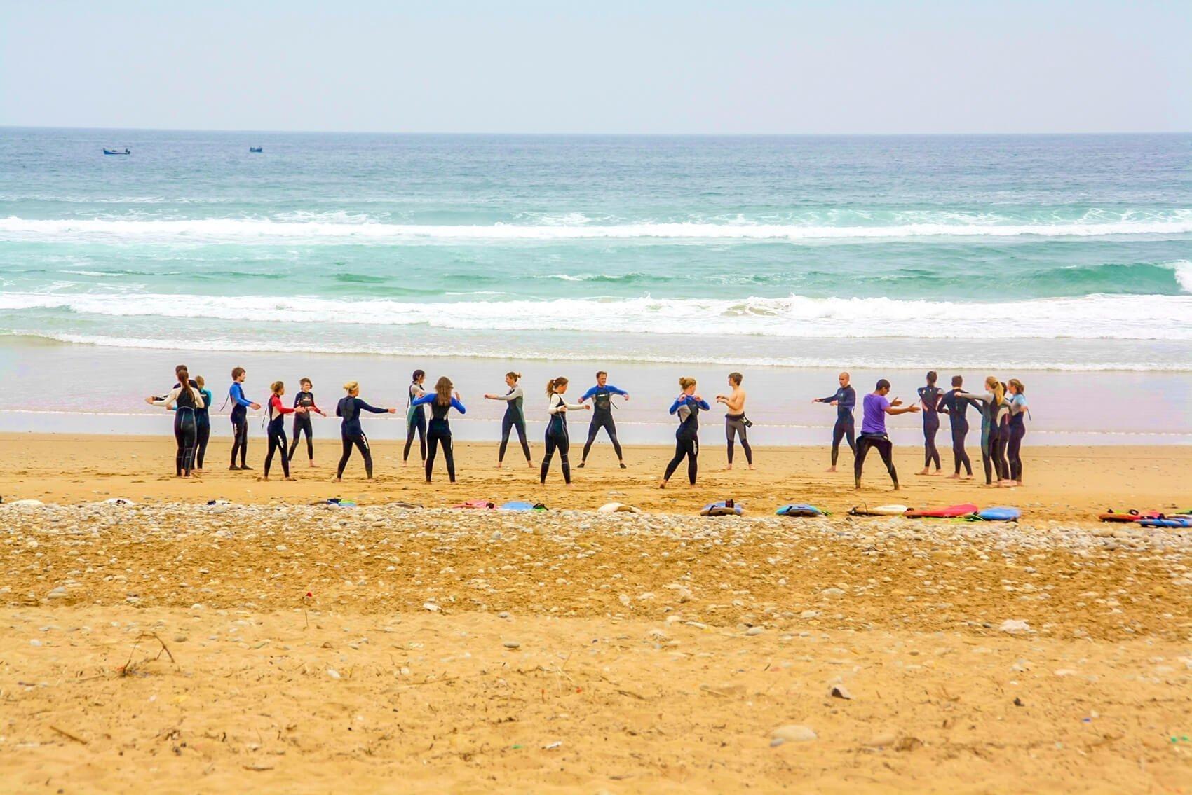 Surflessen in Taghazout Marokko