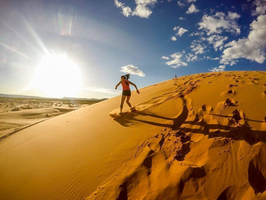 Zandboarden in Agadir