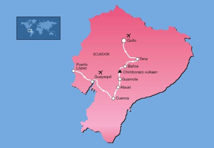14-daagse privé familiereis Ecuador route