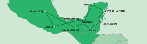 22-daagse privé rondreis Mexico, Belize & Guatemala route