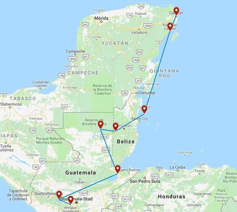 Privé rondreis Guatemala 18 dagen route