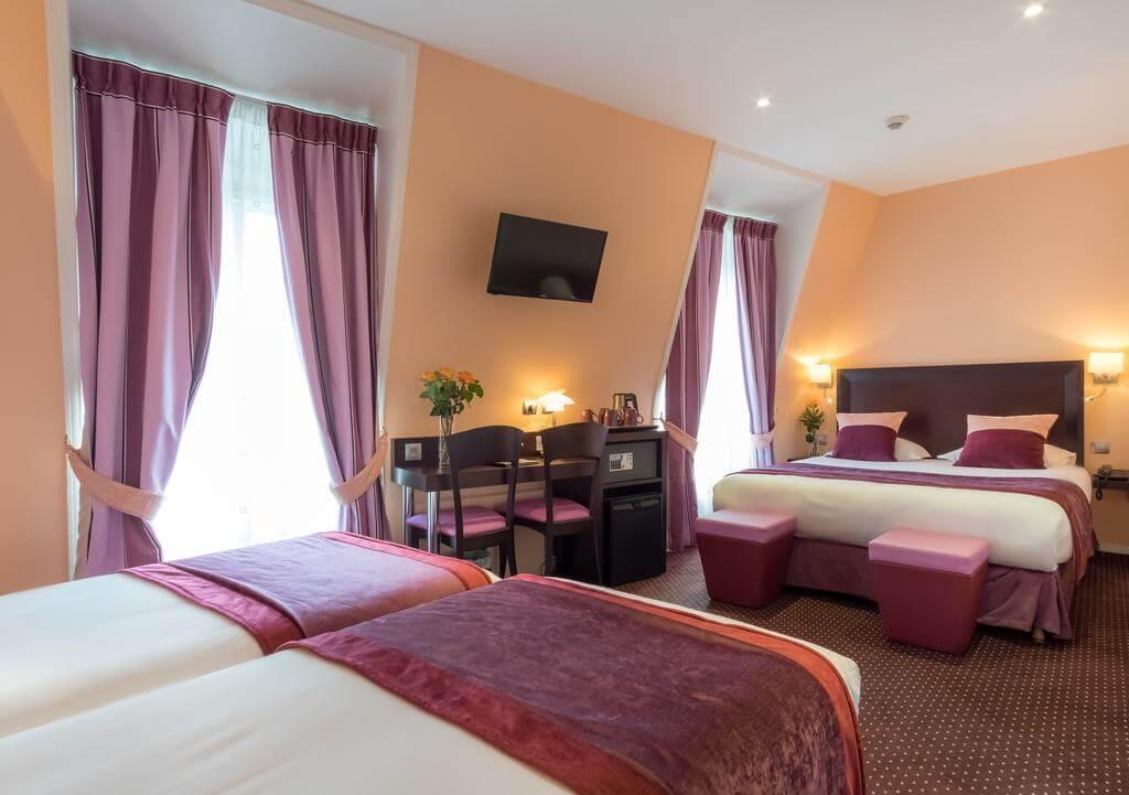 Hotel Virgina Parijs familiekamer